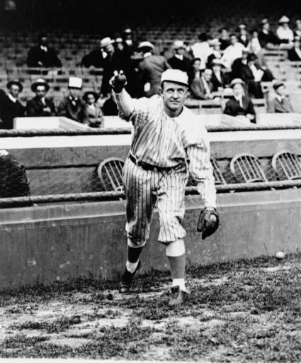 New York Giants' star pitcher, Christy Mathewson, who