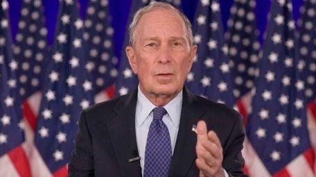 Former New York Mayor Mike Bloomberg speaks on