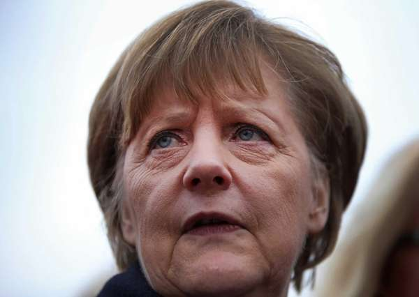 German Chancellor Angela Merkel is pictured as she
