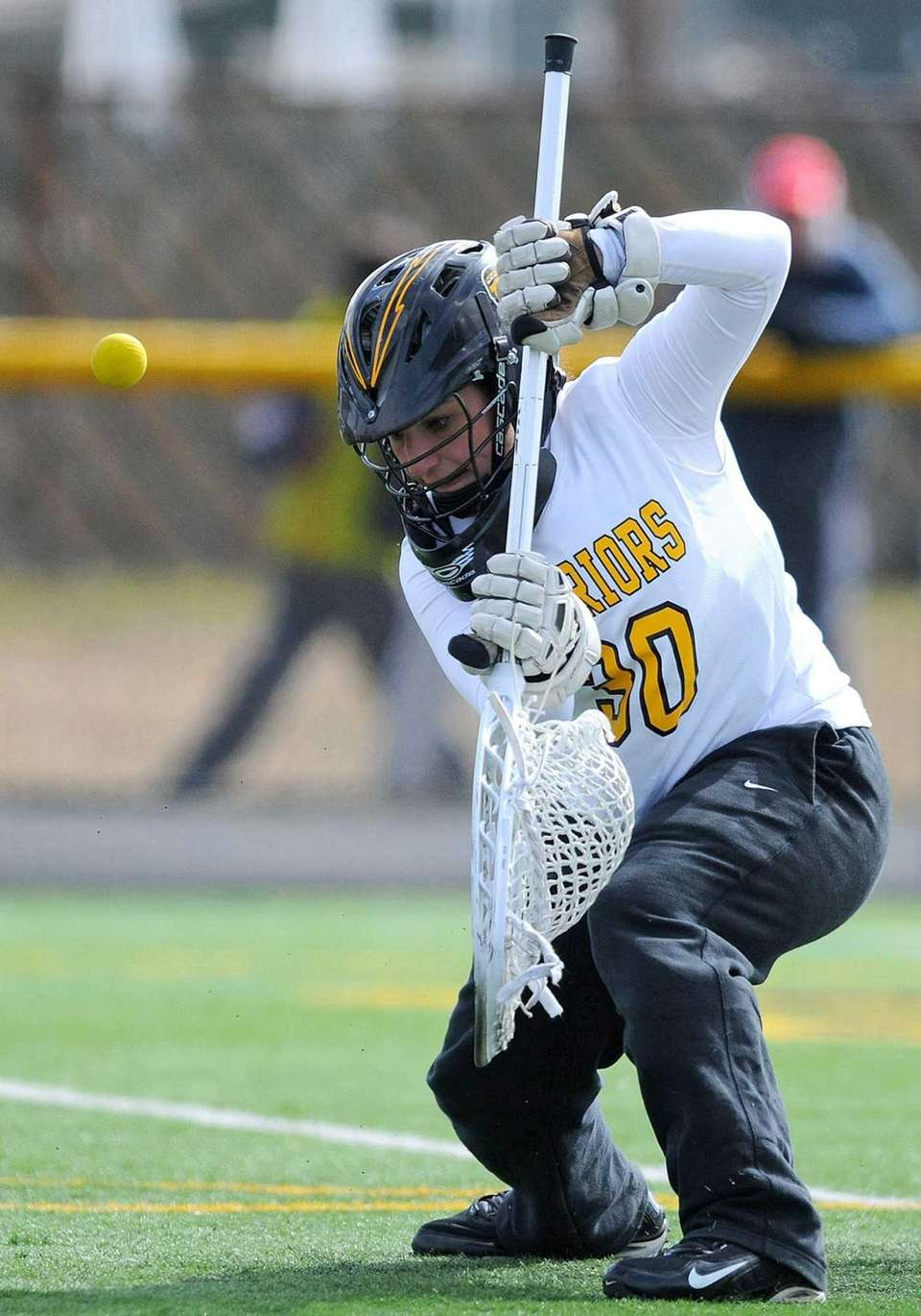 Wantagh goalie Sophia Gambitsky makes a save during