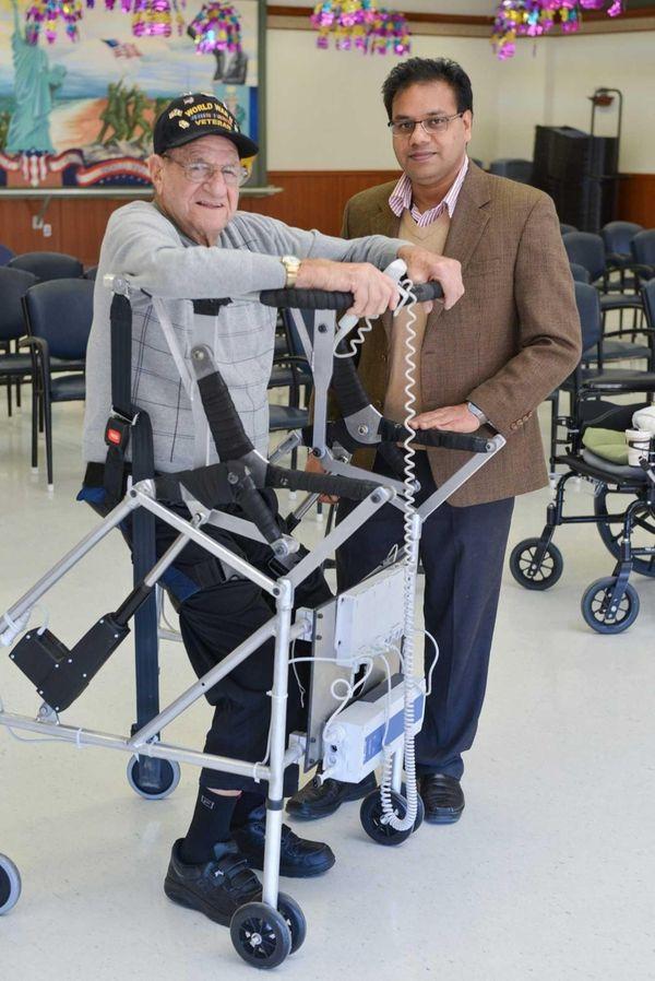 Stony Brook University professor Anurag Purwar with his