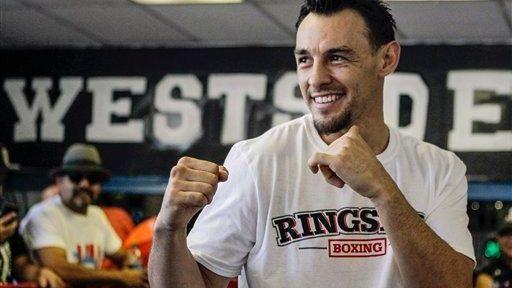 Robert Guerrero poses at Westside Boxing Club in