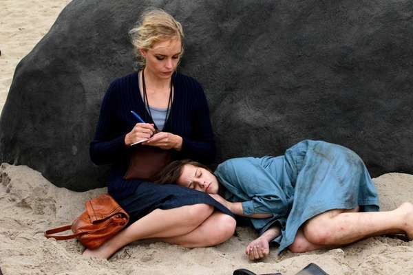 Nina Hoss, left, plays the title role of