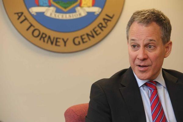 New York State Attorney General Eric Schneiderman speaks