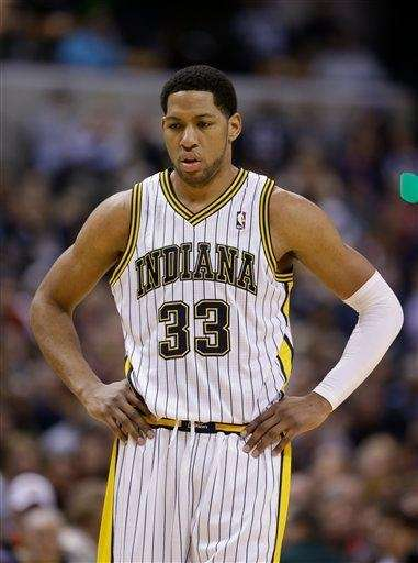 Indiana Pacers forward Danny Granger (33) looks on