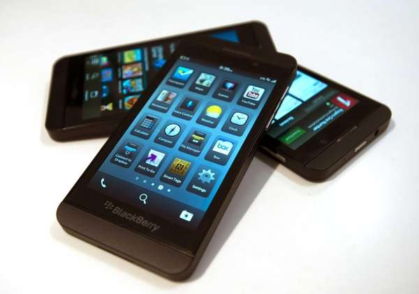 International sales of the BlackBerry Z10 beat estimates