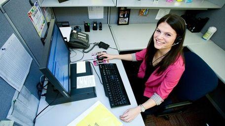 Lindsay Fudim, 22, of Babylon, a recent hire