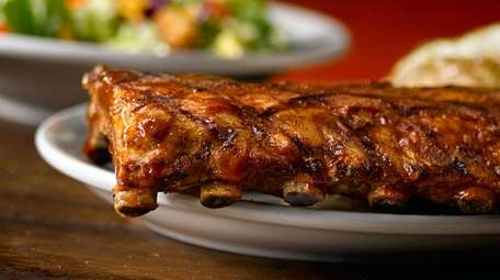 A half slab of ribs from Texas Roadhouse,