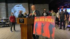 Musicians joined Sen. Chuck Schumer at Mulcahy's Pub