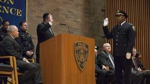Chief Philip Banks III takes an oath as