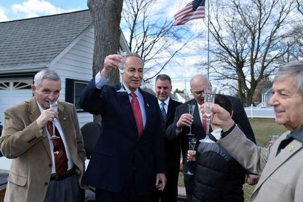 U.S. Senator Charles E. Schumer, second from left,