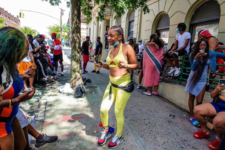 Members of the caribbean community in Brooklyn celebrate