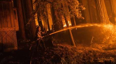 A firefighter with the Jamison Creek CDF station