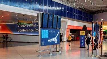 The JetBlue terminal at Kennedy Airport during the