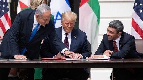 Israeli Prime Minister Benjamin Netanyahu, U.S. President Donald