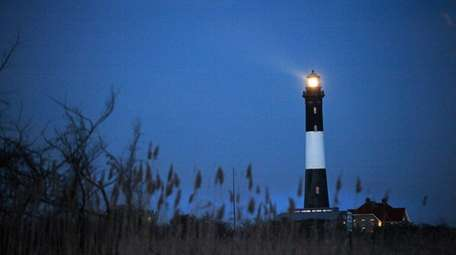 The Fire Island Lighthouse is said to be