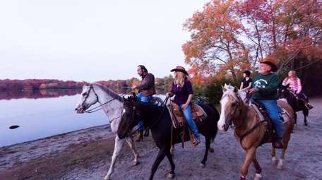 Horseback riders from Babylon Riding Center, Vinny Russo,