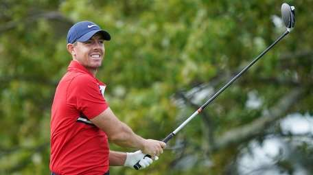 Rory McIlroy practices before the U.S. Open Championship