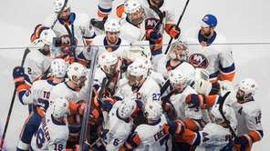 The Islanders, still pumped up from defeating the Tampa