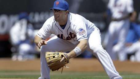 New York Mets third baseman David Wright works