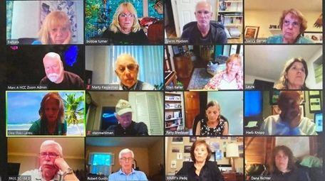 The Huntington Camera Club's board of directors meets