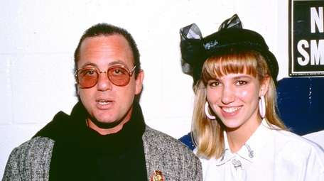 Billy Joel and Debbie Gibson backstage at Madison