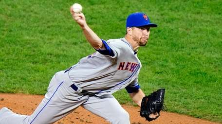 The Mets' Jacob deGrom pitches during the second