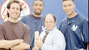 From left, Jerry Seinfeld, Bernie Williams, Jason Alexander