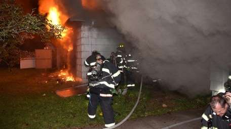 The Bethpage Fire Department responds to a fatal
