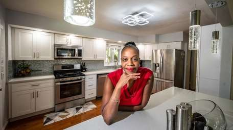 Freeport resident Dawn Edwards in her newly remodeled