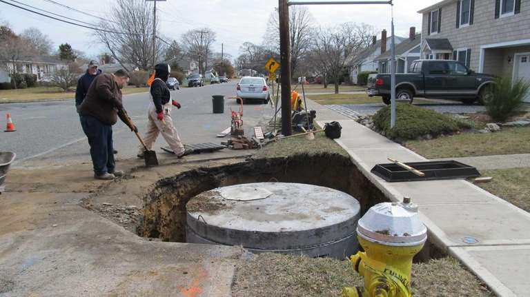The new storm drain on Brook Street in