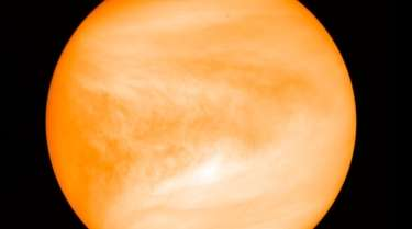 The planet Venus, seen from the Japan Aerospace