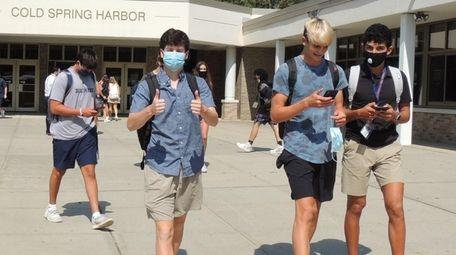 Cold Spring Harbor Jr./Sr. High School students returned