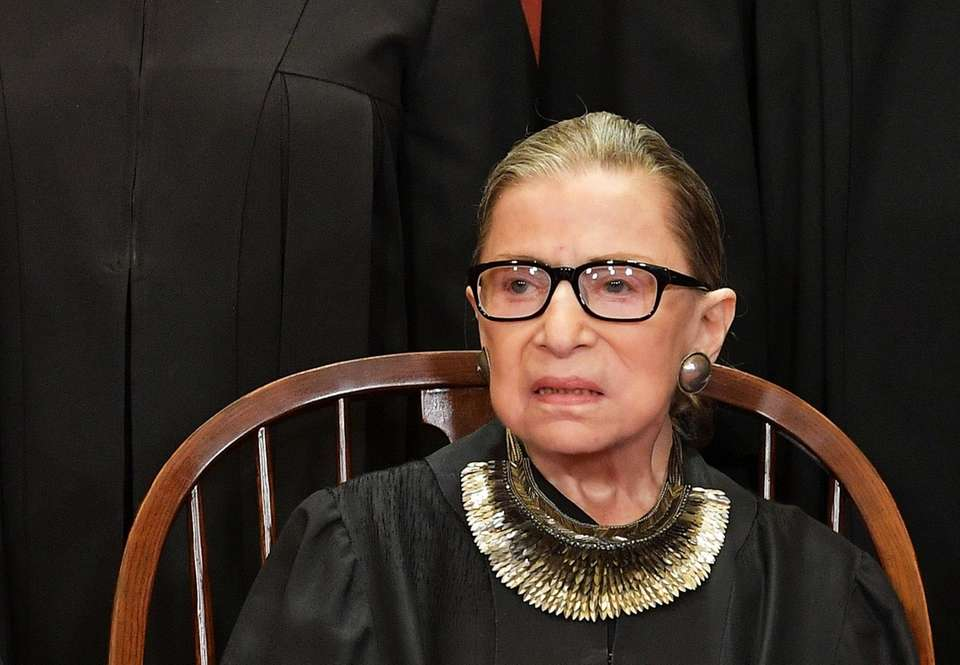 Associate Justice Ruth Bader Ginsburg poses for the