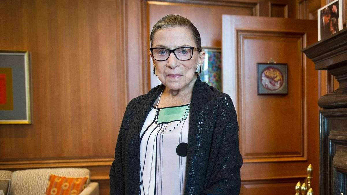 Associate Justice Ruth Bader Ginsburg is seen in