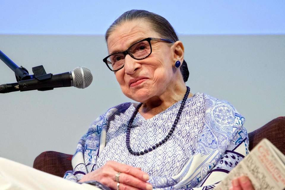 US Supreme Court Justice Ruth Bader Ginsburg speaks