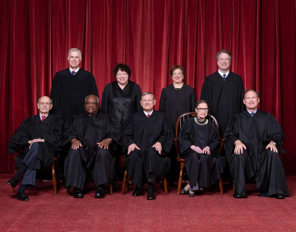 The Roberts Court, November 30, 2018. Seated, from