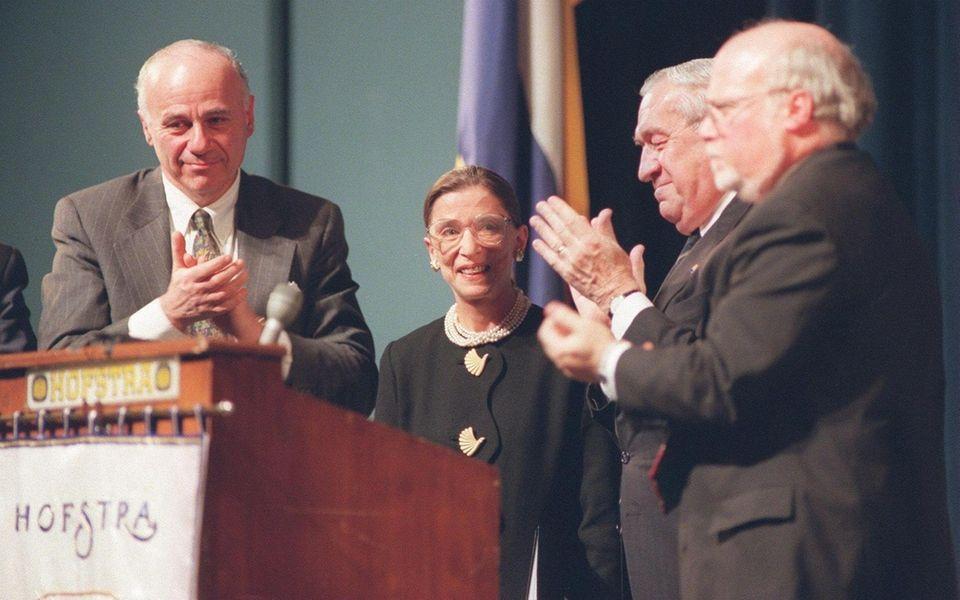 Hempstead, N.Y.: Supreme Court justice Ruth Bader Ginsburg,