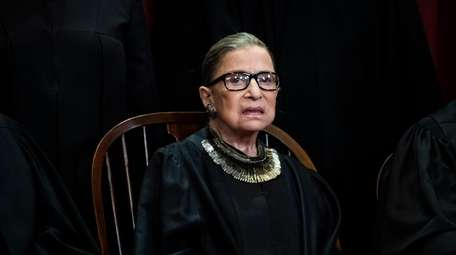 Ruth Bader Ginsburg is pictured in 2018 during