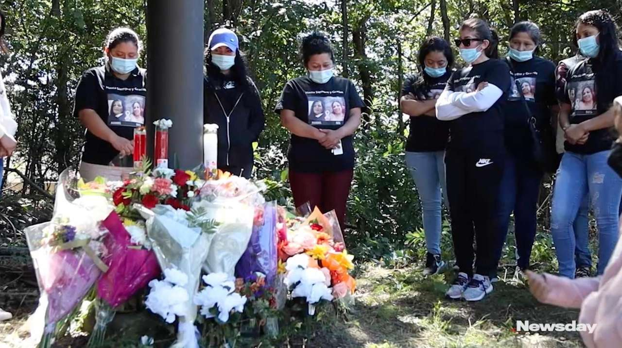 Family and friends gathered Saturday to leave flowers