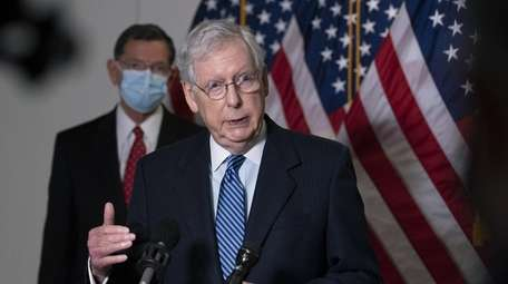Senate Majority Leader Mitch McConnell (R-Ky.) speaks at