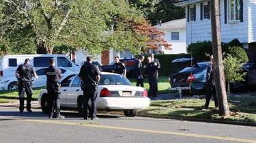 Suffolk County police investigate a hit-and-run in which