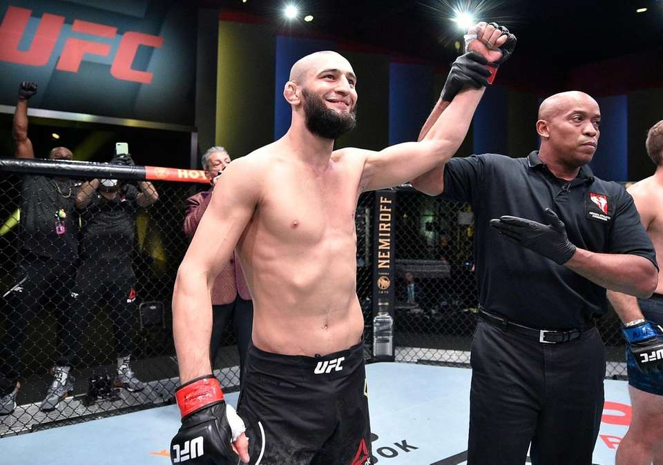 In this handout image provided by UFC, Khamzat