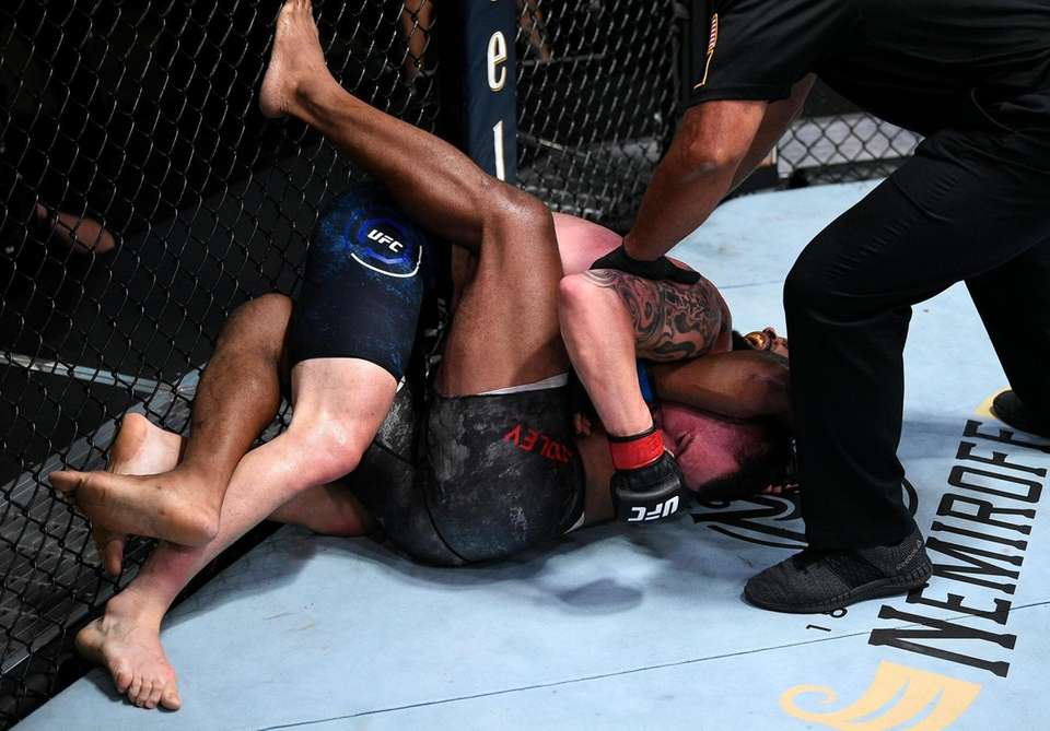 In this handout image provided by UFC, Tyron