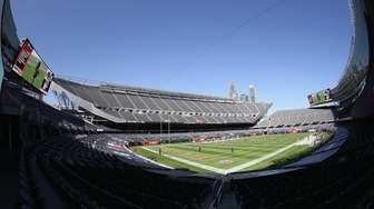 A general view of Soldier Field before the