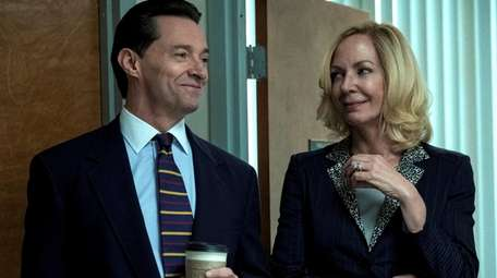 Hugh Jackman and Allison Janney in HBO's BAD
