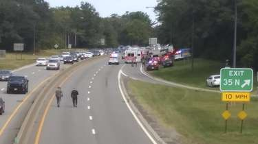 The scene of a fatal motorcycle crash on