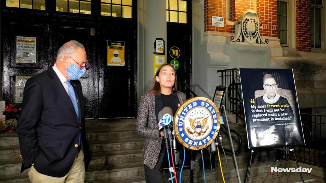 Senate Minority Leader Chuck Schumer and Rep. Alexandria