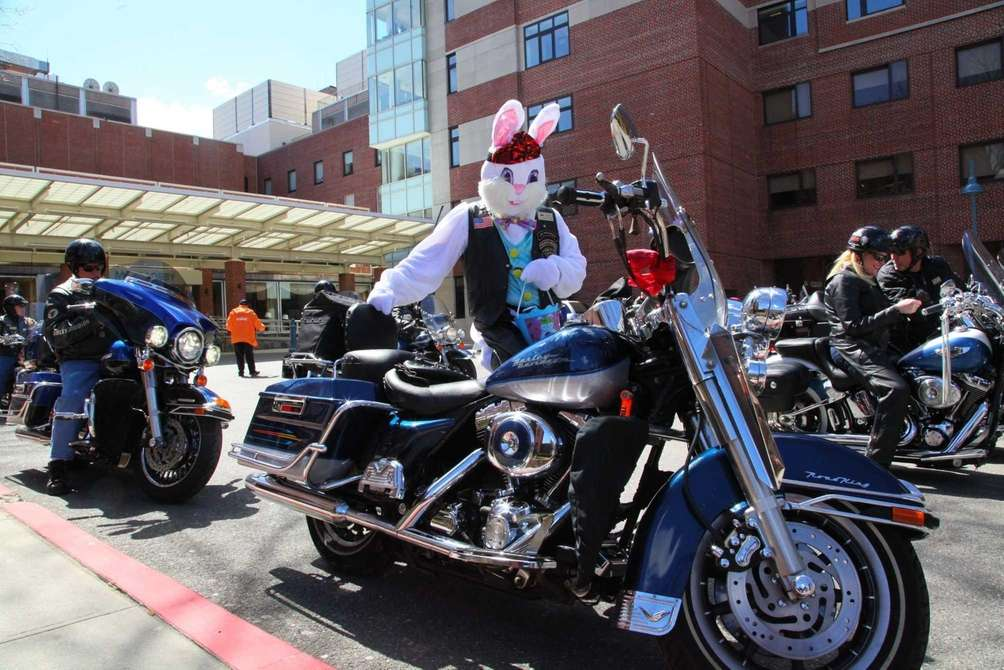 Dominick Mazza of the LI Harley Riders, dressed