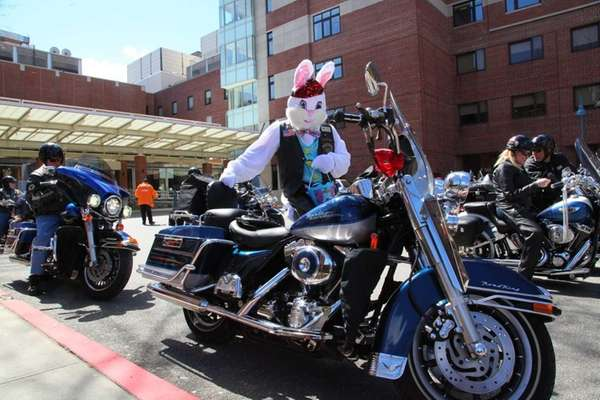 Dominick Mazza of the LI Harley Riders, dressed